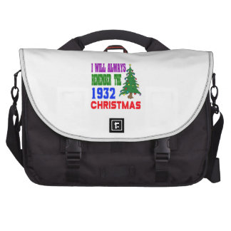 I will always remember the 1932 christmas laptop bags