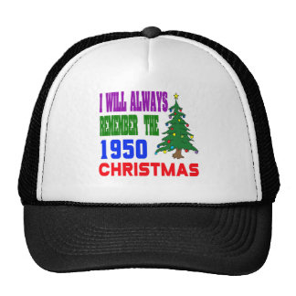 I will always remember the 1950 christmas hats
