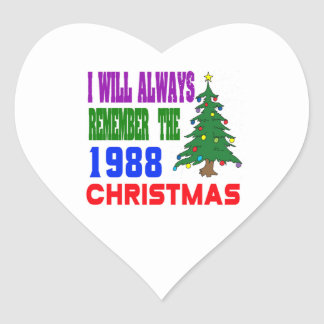 I will always remember the 1988 christmas heart sticker