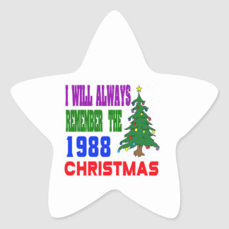I will always remember the 1988 christmas star sticker