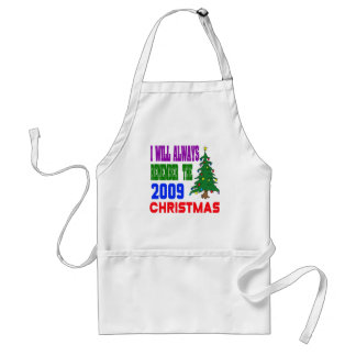 I will always remember the 2009 christmas aprons