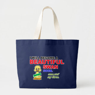 """I Will Become a Beautiful Swan"" Tote Bag"