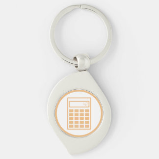 I will crush you with my math Silver-Colored swirl key ring