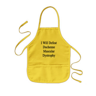 I Will Defeat Duchenne Muscular Dystrophy Kids Apron