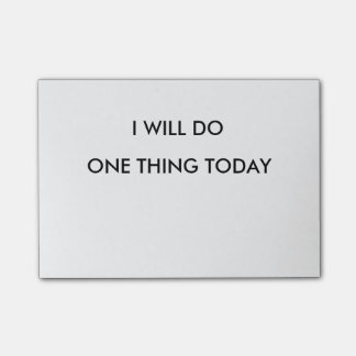 I Will do One thing Today Post It Notepad
