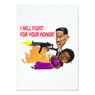 I Will Fight For Your Honor 13 Cm X 18 Cm Invitation Card