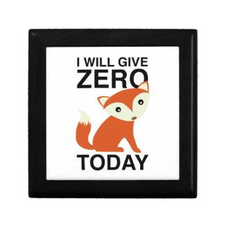I Will Give Zero Fox Today Gift Box
