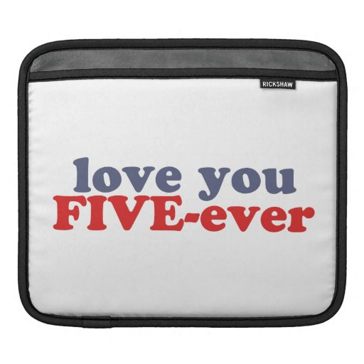 I Will Love You FIVE-ever (dat mean moar dan 4evr) iPad Sleeve