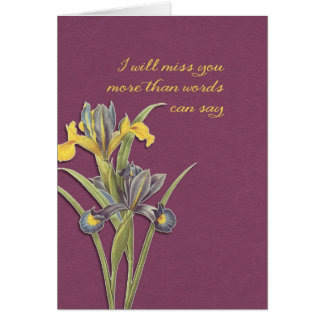 I will miss you, hospice, final goodbye card