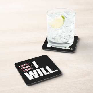 I WILL - Motivational Coasters