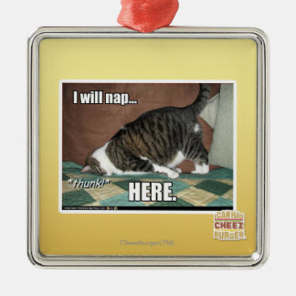 I will nap here christmas ornament
