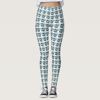 I Will Not Be Defeated Print Leggings