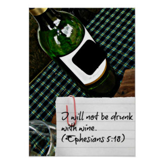 I will not be drunk poster