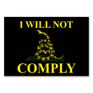 I Will Not Comply! Table Cards