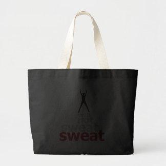 I Will Not Sweat Sweat - Leaper Jumbo Tote Bag