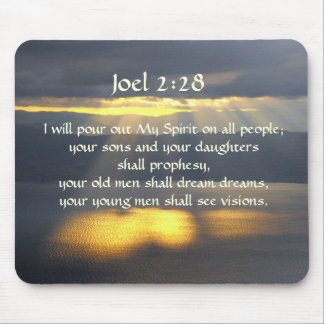 I will pour out My Spirit Joel 2 28, Bible Verse Mouse Pad