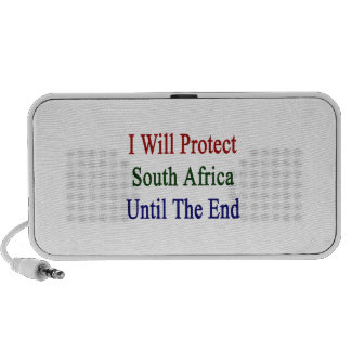 I Will Protect South Africa Until The End Travel Speakers