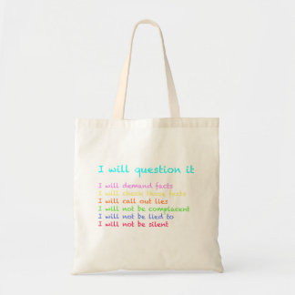 I Will Question It Totebag Tote Bag