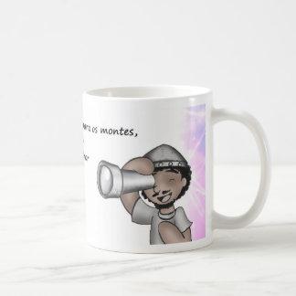 I will raise my eyes for mounts basic white mug