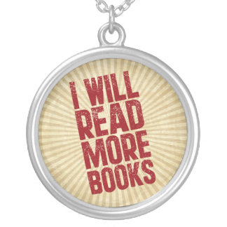 I Will Read More Books Round Pendant Necklace