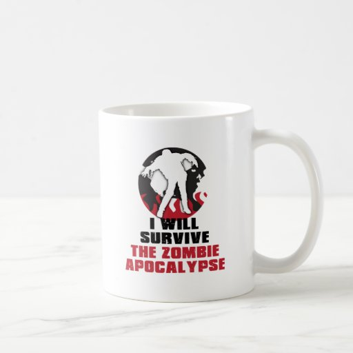 I Will Survive The Zombie Apocalypse Mugs