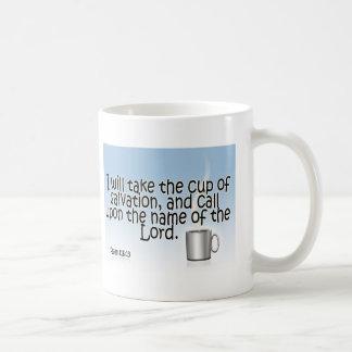 I will take the cup of salvation coffee mug