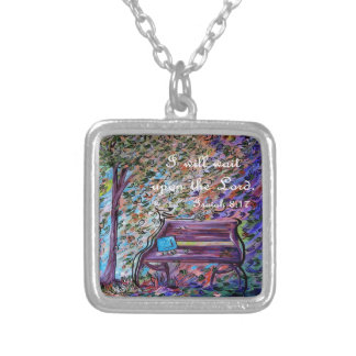 I Will Wait Upon the Lord Silver Plated Necklace