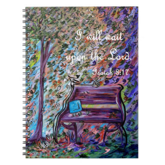 I Will Wait Upon the Lord Spiral Notebook