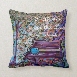 I Will Wait Upon the Lord Throw Pillow