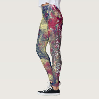 """I will walk by faith"" leggings. Leggings"