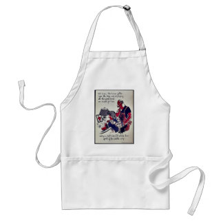 I Will Whale Him Good If He Wastes Any Aprons
