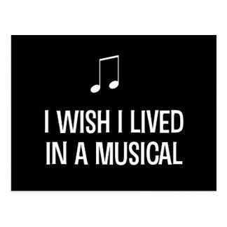I Wish I Lived in a Musical Postcard