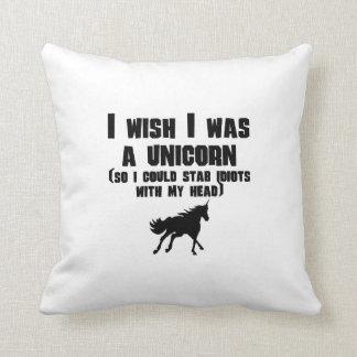 I Wish I Was A Unicorn Cushion