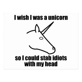 I Wish I Was A Unicorn Postcards