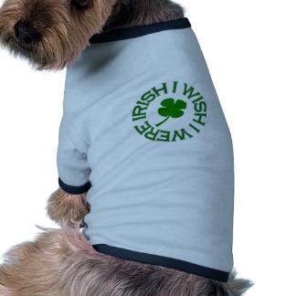 I Wish I Were Irish (green) Ringer Dog Shirt