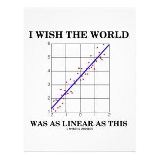 I Wish The World Was As Linear As This (Stats) 21.5 Cm X 28 Cm Flyer