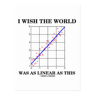 I Wish The World Was As Linear As This (Stats) Postcard