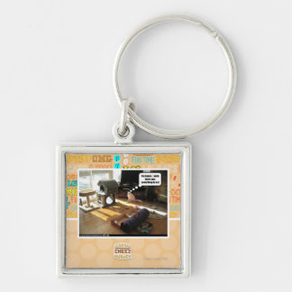 I wish there was something to do Silver-Colored square key ring