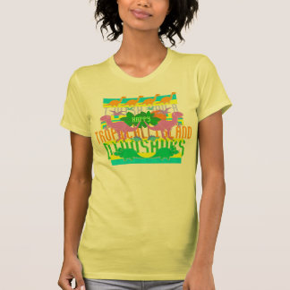 I Wish You a Happy Tropical Island Dinosaurs T Shirt