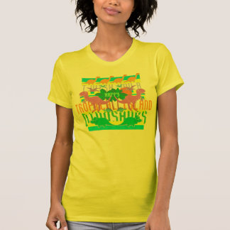 I Wish You a Happy Tropical Island Dinosaurs T-Shirt