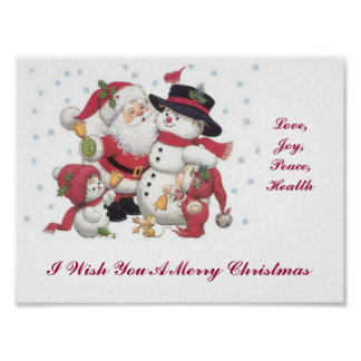 I Wish You A Merry Christmas Poster
