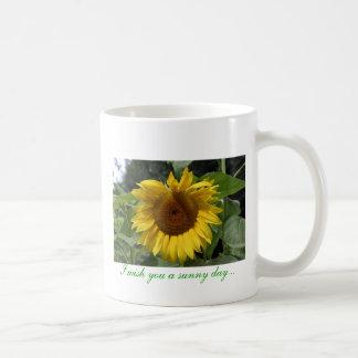 I wish you a sunny day... basic white mug