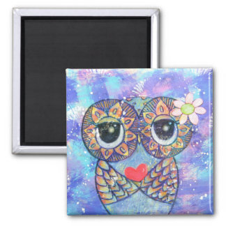 I Wish You Love Square Magnet