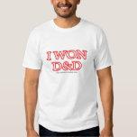 I Won D&D Tshirts