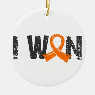 I Won Kidney Cancer Round Ceramic Decoration