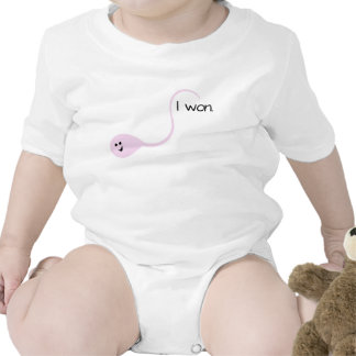 I Won Pink Funny Baby T-shirt