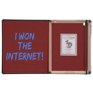 I Won the Internet - Red Background iPad Folio Cases