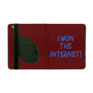 I Won the Internet - Red Background iPad Cases