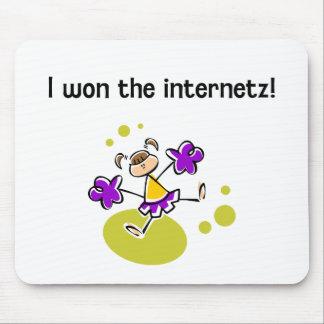 I won the internetz! mouse pad