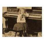 I Won't Practice Another Minute Vintage Stereoview Postcard